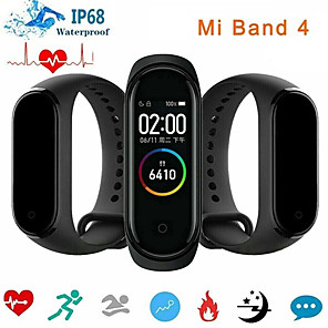 cheap Smartwatches-Xiaomi Mi Band 4 Smart Watch BT 5.0 Fitness Tracker Support Notify/Heart Rate Monitor Compatible Samsung/HUAWEI Android Phones & IPhone Bluetooth Smartwatch(China Version)