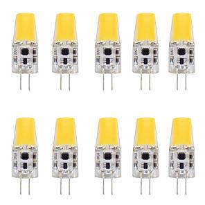 cheap LED Bi-pin Lights-10pcs 4 W LED Bi-pin Lights 400 lm G4 T 1 LED Beads COB Warm White White 12 V