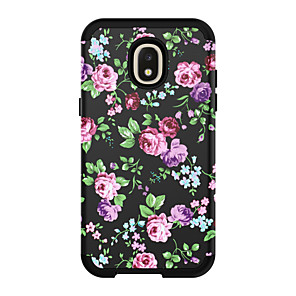 cheap Samsung Case-Case For Samsung Galaxy J3 / Galaxy J3 Prime / Galaxy J3 Pro(2017) Shockproof Back Cover Scenery / Flower PC