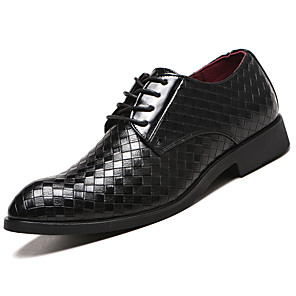 cheap Clutches & Evening Bags-Men's Formal Shoes Faux Leather Spring & Summer / Fall & Winter Business / Casual Oxfords Breathable Black / Brown / Wine