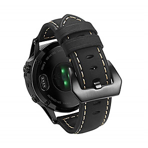 cheap Smartwatch Bands-22mm Genuine Leather Strap and Connecting Rod Tool for Garmin Forerunner945/935/fenix5Plus/fenix5/quatix5/quatix5 Sapphire/Approach S60