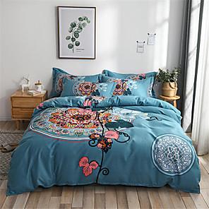 cheap Geometric Duvet Covers-Duvet Cover Geometric / Floral / Botanical Poly / Cotton Printed 1 PieceBedding Sets
