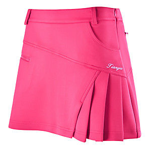 cheap Tennis-Women's Girls' Female Tennis Golf Leisure Sports Outdoor Exercise Skirt Skort Bottoms Solid Colored Breathable Quick Dry Comfortable Spring Summer Fall Sports & Outdoor Outdoor / Cotton / Stretchy