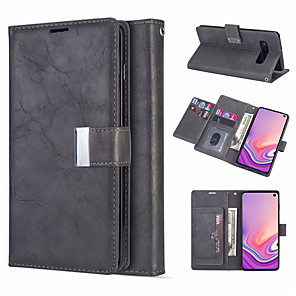 cheap Samsung Case-Leather Magnetic Flip Wallet Phone Case for Samsung Galaxy S10 Plus S10e S10 S9 Plus S9 S8 Plus S8 S7 Edge S7 Card Slot Holder Stand Case for Galaxy Note 10 Plus Note 10 Note 9 Note 8 Cover