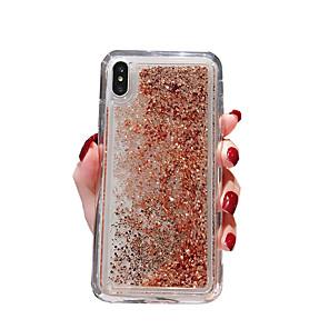 cheap iPhone Cases-Case for Apple iPhoneX / iPhoneXS / iPhoneXR / iPhone 8 Plus / iPhone 8 Transparent / Dust / Waterproof Flamingo Peach Flash Liquid Solid Color Soft TPU for iPhone 6 / iPhone 6 Plus / iPhone 6s