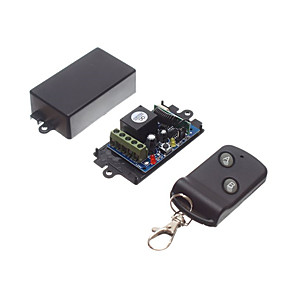 cheap Smart Home-DC12V 1CH RF Wireless Remote Control Switch /Learning Code Relay Receiver with 10A Relay / NO COM NC Receiver 433mhz