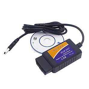 cheap OBD-USB ELM327 V1.5 OBD2 Code Scanner ELM327 USB V1.5 Diagnostic Cable ELM 327 Support OBD2 Protocols For Windows 7 8 XP