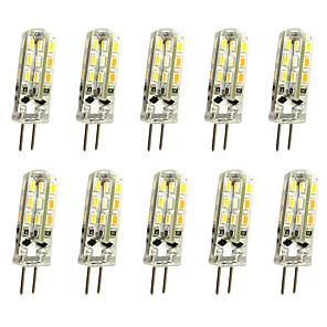 cheap Smart Home-JIAWEN 10pcs 1W 120lm G4 LED Bi-pin Lights Corn Bulb 24LED SMD 3014 Decorative Chandelier Lamp Warm White / Cold White DC 12V
