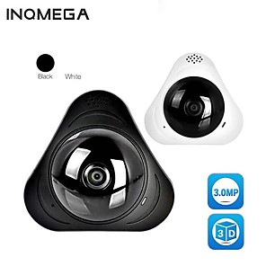 cheap Indoor IP Network Cameras-INQMEGA 360 Degree Camera IP Fish Eye Panoramic 960P WIFI CCTV 3D VR Video IP Cam Micro SD Card Audio Remote Home Monitoring