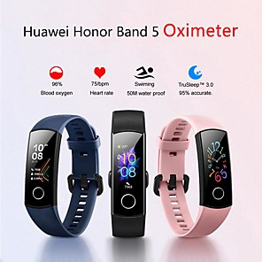 cheap Smartwatches-HUAWEI Honor Band 5 Smart Wristband BT Fitness Tracker Support Notify & Heart Rate Monitor Sports Bluetooth Smartwatch Compatible Iphone/Samsung/LG/Android Phones