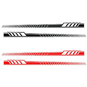 cheap Car Body Decoration & Protection-2pcs/Set Car Auto Body Stickers Long Stripe Side Skirt Decoration Vinyl Decals