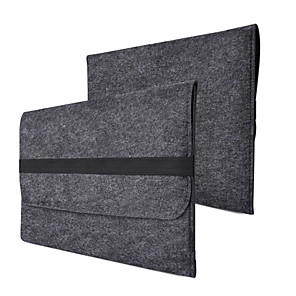 cheap Mac Accessories-Fashion Wool Felt Laptop Sleeve Bag Notebook Handbag Case For Macbook Air Pro Retina 11 13 15 Inch Laptop Liner Bag