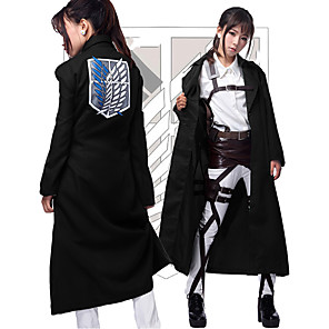 cheap Anime Costumes-Inspired by Attack on Titan Cosplay Anime Cosplay Costumes Japanese Cosplay Tops / Bottoms Coat For Men's Women's