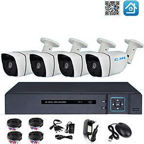 Недорогие Цифровые видеорегистраторы и DVR карты-4-канальный комплект оборудования мониторинга магазина AHD коаксиальный 2 миллиона 1080 P инфракрасного ночного видения HD