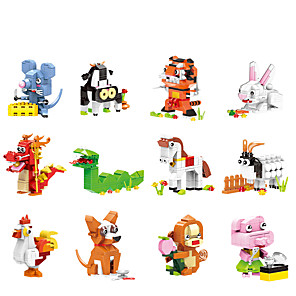 cheap Stuffed Animals-Building Blocks 1 pcs Rabbit Snake Dog Pig Dragon Mouse compatible ABS+PC Legoing Animals All Toy Gift / Kids
