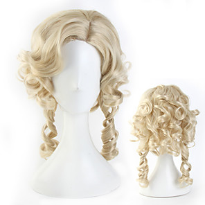 cheap Movie & TV Theme Costumes-Belle Cosplay Wigs Masquerade Women's Movie Cosplay Cosplay Halloween Golden Wig Halloween Carnival Masquerade Synthetic Fiber