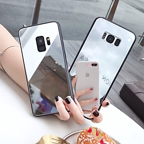cheap Samsung Case-Case For Samsung Galaxy S9 / S9 Plus / S8 Plus Mirror / Ultra-thin / Pattern Back Cover Solid Colored TPU
