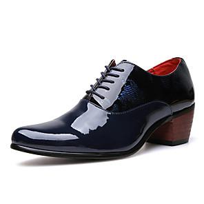 cheap Men's Oxfords-Men's Comfort Shoes PU Fall Casual Oxfords Non-slipping Black / Dark Blue