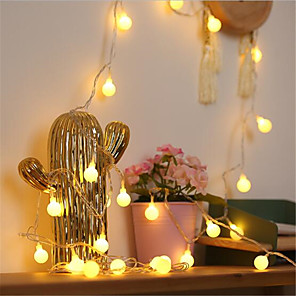cheap LED String Lights-3M Fairy Small Ball Wedding Xmas LED Holiday String Light Christmas Tree Party Decor Garland Battery Powered String Lamp