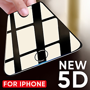 cheap iPhone Screen Protectors-5d tempered glass on the for iphone 6 6s plus 7 8 x screen protector protective glass curved edge for iphone 8 7 plus x film