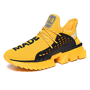 cheap Men's Athletic Shoes-Men's Comfort Shoes Light Soles Chunky Sneakers Fall / Winter Sporty Athletic Daily Outdoor Trainers / Athletic Shoes Running Shoes / Walking Shoes Tissage Volant Breathable Non-slipping / Slogan