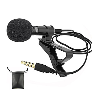 cheap Microphones-Audio Microphones 3.5mm Jack Plug Clip-on Lavalier Mic Stereo Mini Wired External Microphone for Mobile Phone