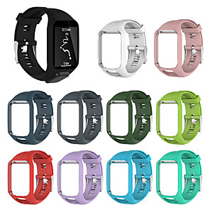 cheap Smartwatch Bands-Watch Band for TomTom Multi-Sport GPS+HRM / TomTom Runner 2 / TomTom Runner 3 TomTom Sport Band Silicone Wrist Strap