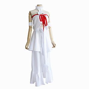 povoljno Anime kostimi-Inspirirana SAO Swords Art Online Asuna Yuuki Anime Cosplay nošnje Japanski Cosplay Suits Top Haljina Povez za ruku Za Žene / Ribbon / Ribbon