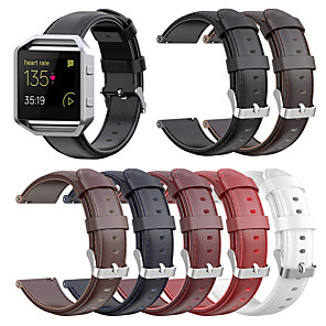 cheap Smartwatch Bands-For Fitbit Blaze Replacement Band Genuine Leather Strap Classic Adjustable