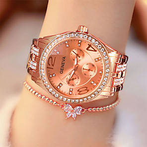 cheap Quartz Watches-Women's Quartz Watches Fashion Silver Gold Rose Gold Alloy Quartz Rose Gold Gold Silver Casual Watch Analog