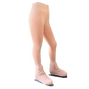 cheap Movie & TV Theme Costumes-21Grams Figure Skating Pants Women's Girls' Ice Skating Tights Bottoms Khaki Spandex Stretch Yarn High Elasticity Training Competition Skating Wear Solid Colored Classic Long Pant Ice Skating Figure
