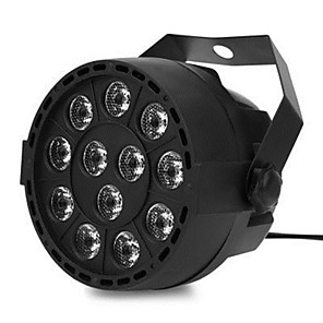 cheap Stage Lights-LED12 Pearl Lamp Dyeing Lamp KTV Bar Spotlight Stage Light RGB Acoustic Control Camp