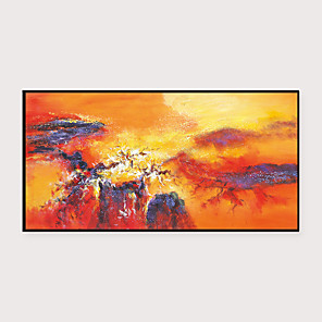 cheap Framed Arts-Framed Art Print Framed Set - Abstract Landscape PS Oil Painting Wall Art