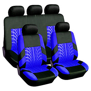 cheap Car Headrests&Waist Cushions-9PCS/Set Universal Breathable Tire Track Style Car Seat Cover Seat Protector Case Cushion Pad Car Styling Car Seat Protector Four Seasons Car Accessories