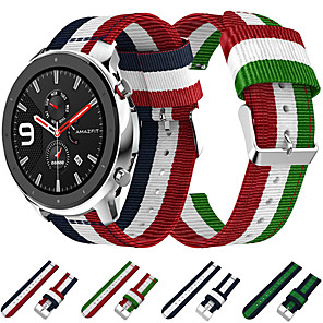 cheap Smartwatch Bands-Woven Nylon Canvas Watch Band Wrist Strap for Xiaomi Huami Amazfit GTR 42mm / Amazfit Bip Youth / Samsung Galaxy Watch 42mm Bracelet Replaceable Wristband
