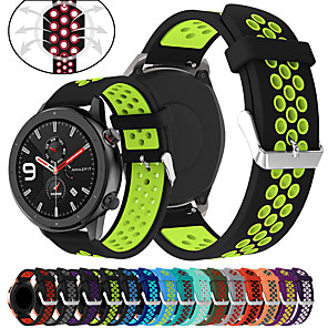 cheap Smartwatch Bands-Sport Silicone Watch Band Wrist Strap for Xiaomi Huami Amazfit GTR 47mm / Amazfit Stratos 2 2S / Amazfit Pace Watch Bracelet Replaceable Wristband