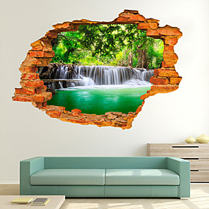cheap Wall Stickers-Decorative Wall Stickers - 3D Wall Stickers Landscape Living Room / Bedroom / Kitchen