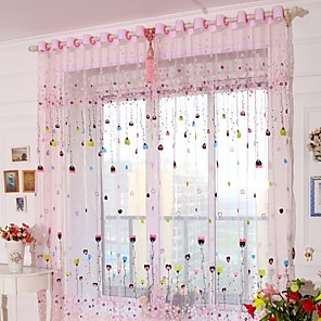 cheap Curtain Accessories-Sheer One Panel Sheer Living Room   Curtains