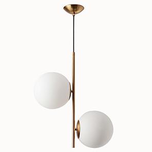 cheap Pendant Lights-2-Light Nordic bedroom pendant light creative personality simple post-modern glass ball bar coffee restaurant pendant lamp