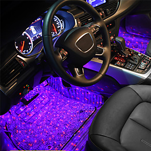 cheap Car Charger-1set Remote Control Car Sole Full Of Stars Atmosphere Light  mood light interior decorative lights interior foot lights car styling
