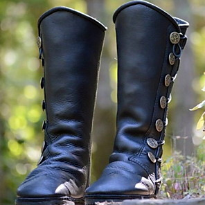 cheap Women's Boots-Women's Boots Flat Heel Round Toe PU Mid-Calf Boots Winter Black / Brown
