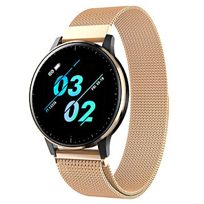 cheap Smartwatches-Q20 Smart Watch BT Fitness Tracker Support Notify/Heart Rate Monitor Sport Stainless Steel Smartwatch Compatible Iphone/Samsung/Android Phones