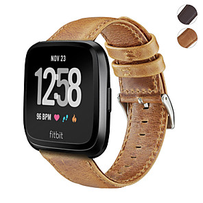 cheap Smartwatch Bands-Leather Watch Band Wrist Strap For Fitbit Versa Lite / Versa Replacement Bracelet Wristband