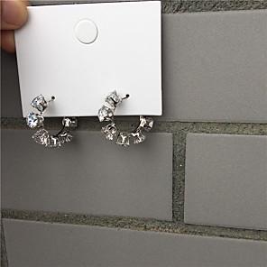 cheap Earrings-Women's Earrings Classic Alphabet Shape Imitation Diamond Earrings Jewelry Gold / Silver For Gift Daily Festival 1 Pair