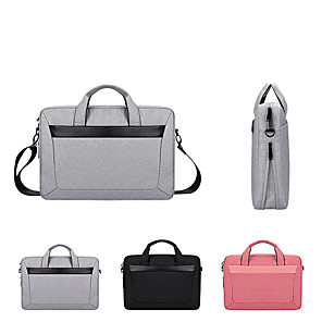 cheap Sleeves,Cases & Covers-13.3 Inch Laptop / 14 Inch Laptop / 15.6 Inch Laptop Shoulder Messenger Bag / Briefcase Handbags Polyester Solid Color Unisex Water Proof Shock Proof