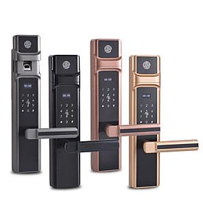 cheap Video Door Phone Systems-Factory OEM MN-302 Zinc Alloy lock / Fingerprint Lock / Intelligent Lock Smart Home Security Android System RFID / Fingerprint unlocking / Password unlocking Home / Office / Hotel Wooden Door