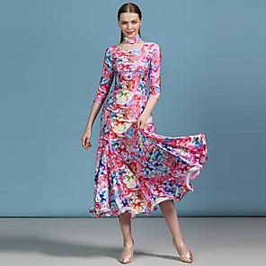 cheap Ballroom Dancewear-Ballroom Dance Dress Pattern / Print Women's Performance High Spandex