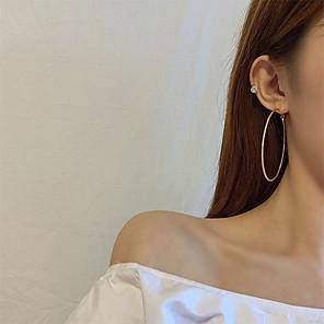 cheap Earrings-Women's Earrings Classic Joy S925 Sterling Silver Earrings Jewelry Gold For Gift Daily Festival 1 Pair