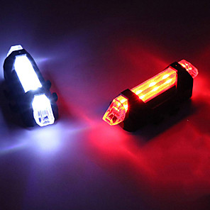 cheap Bike Lights & Reflectors-LED Bike Light Rear Bike Tail Light Safety Light LED Mountain Bike MTB Bicycle Cycling LED Rechargeable Battery * Rechargeable Battery White Red Blue Cycling / Bike