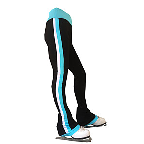 cheap Ice Skating Dresses , Pants & Jackets-21Grams Figure Skating Pants Women's Girls' Ice Skating Tights Bottoms Black Spandex Stretch Yarn High Elasticity Training Skating Wear Solid Colored Classic Long Pant Ice Skating Figure Skating